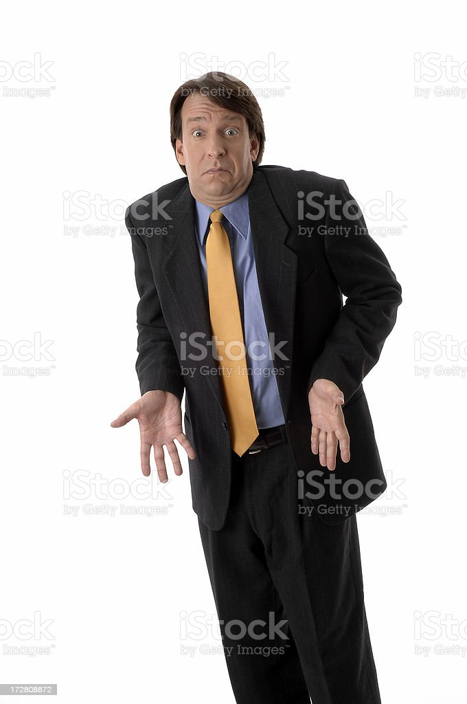 The Expressive Business Man royalty-free stock photo