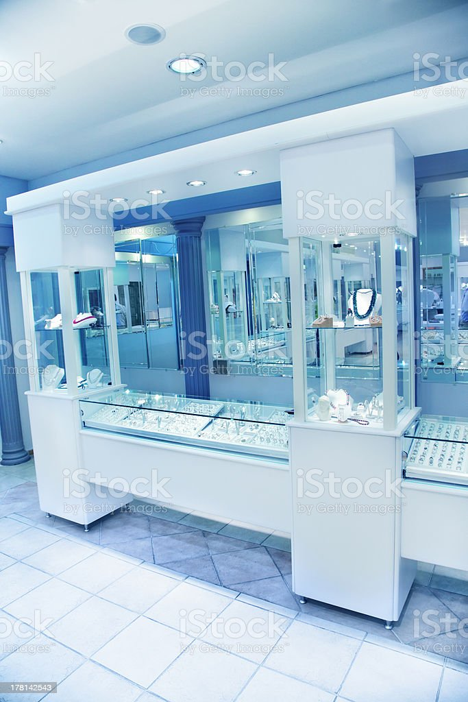 The exterior of a jewelry store stock photo