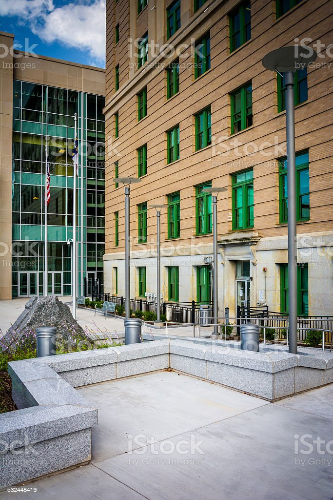 The exterior of the Buncombe County Courthouse in Asheville, Nor stock photo