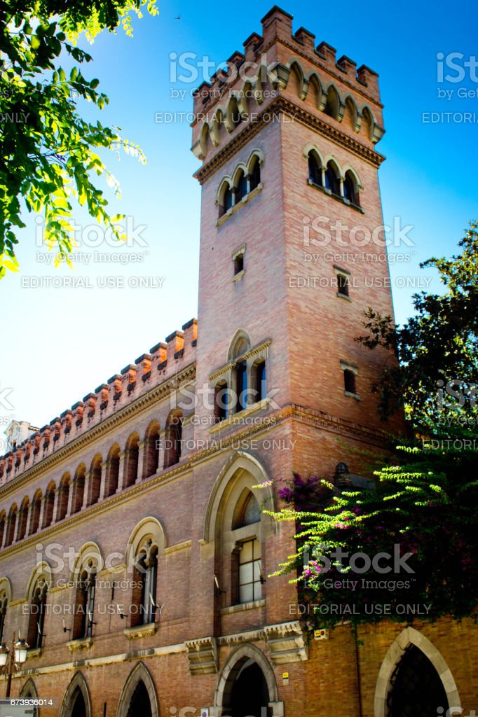 The exterior wall of Alcazar Castle in Seville stock photo