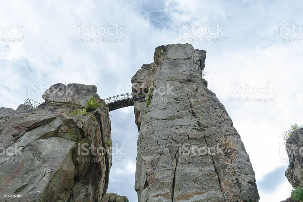 The external stones, salient sandstone Felsformationim in the Te stock photo
