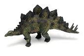 The extinct dinosaur Stegosaurus