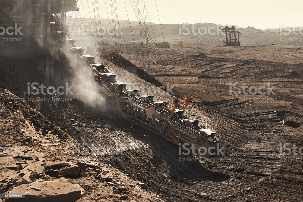 the extractive machine in opencast mine royalty-free stock photo