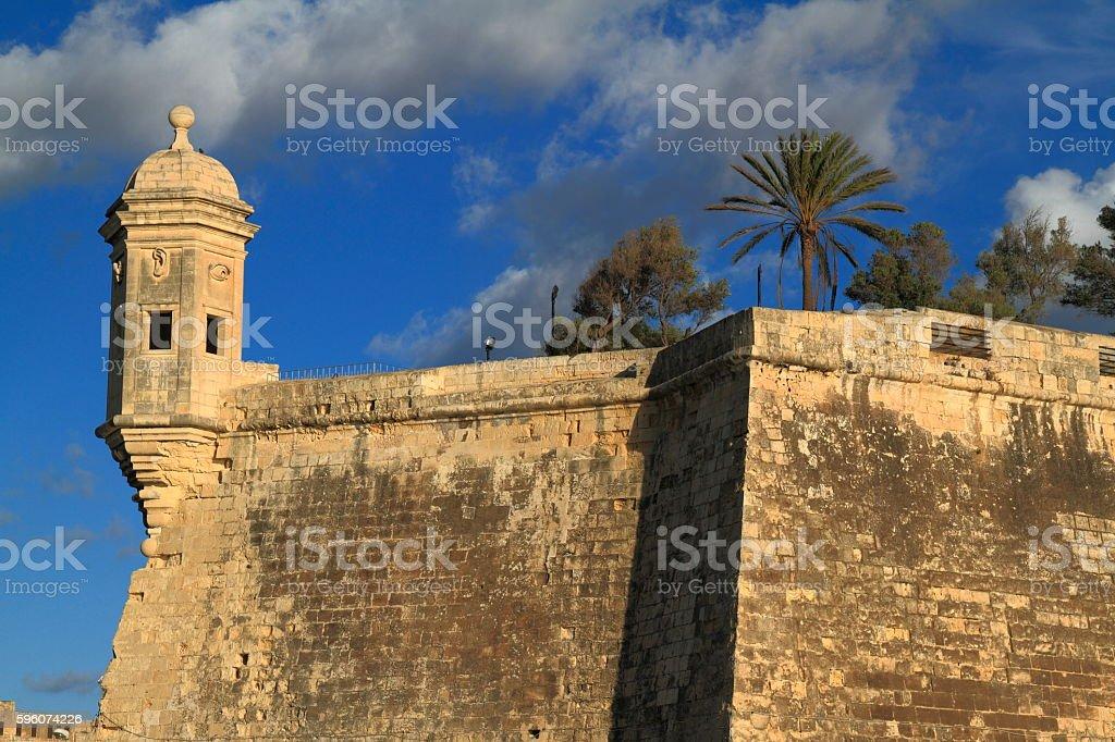 The Eye & Ear Vedette Watchtower in Senglea, Malta stock photo