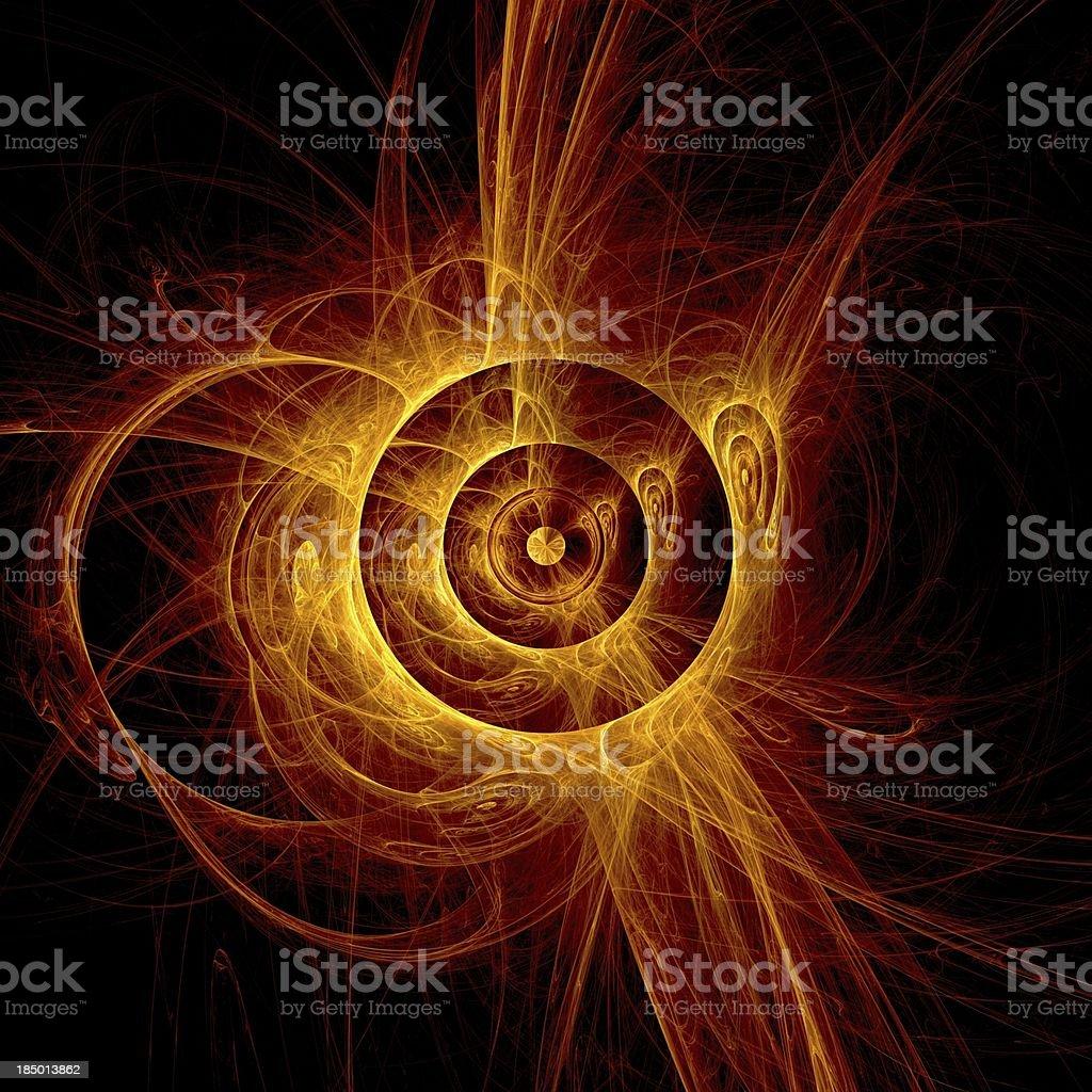 The eye of God - Solar Eclipse stock photo