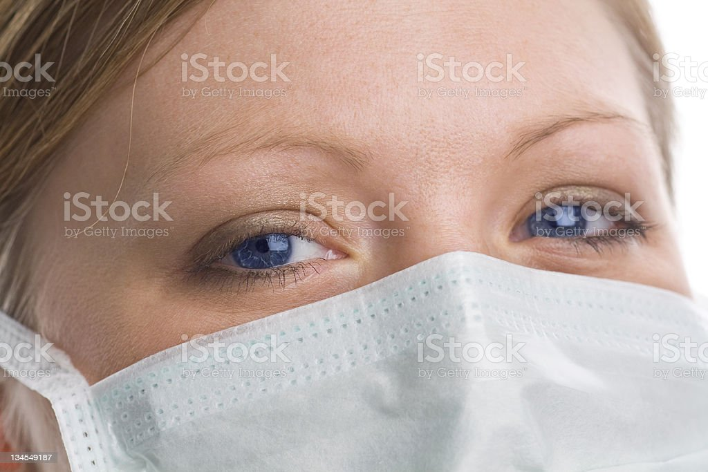 The Eyes of a Healthcare - Flu Precautions royalty-free stock photo