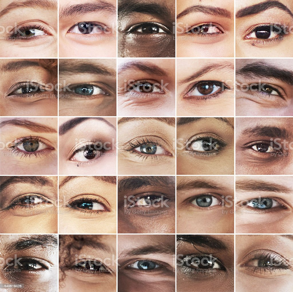 The eyes see all stock photo