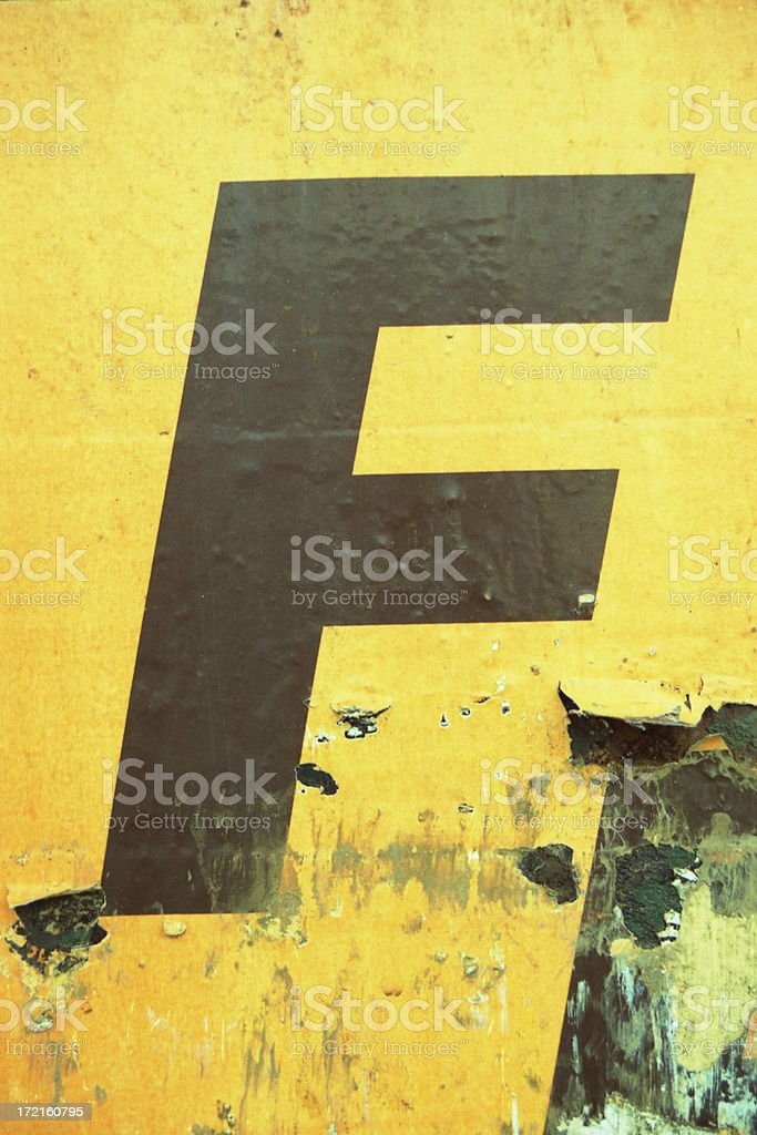 the F stock photo