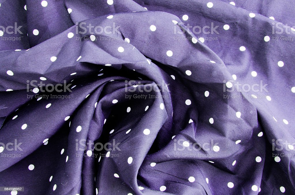 The fabric with polka dots stock photo