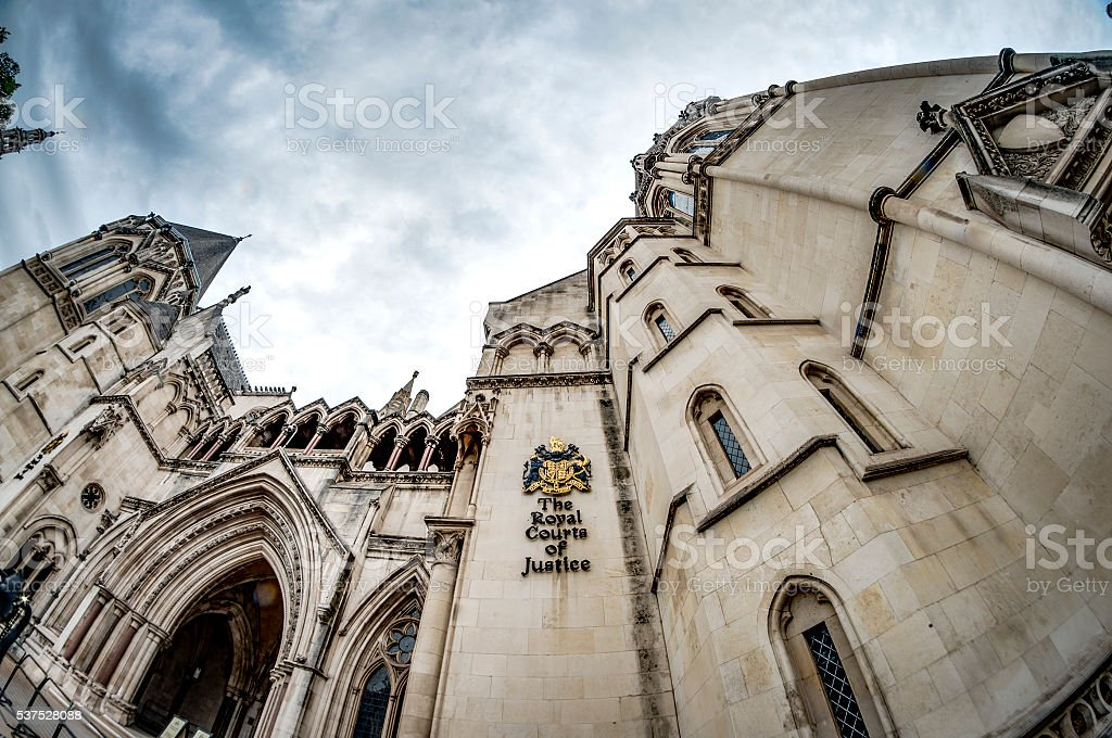 The facade of the Royal Courts of Justice stock photo