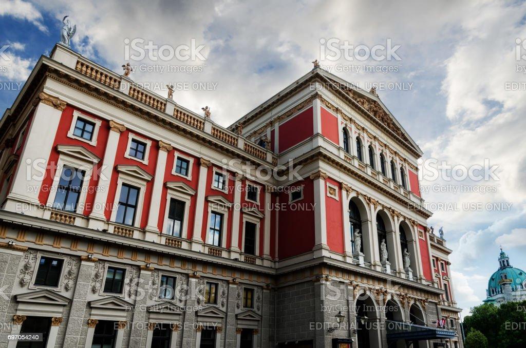 The facade of the Wiener Musikverein stock photo