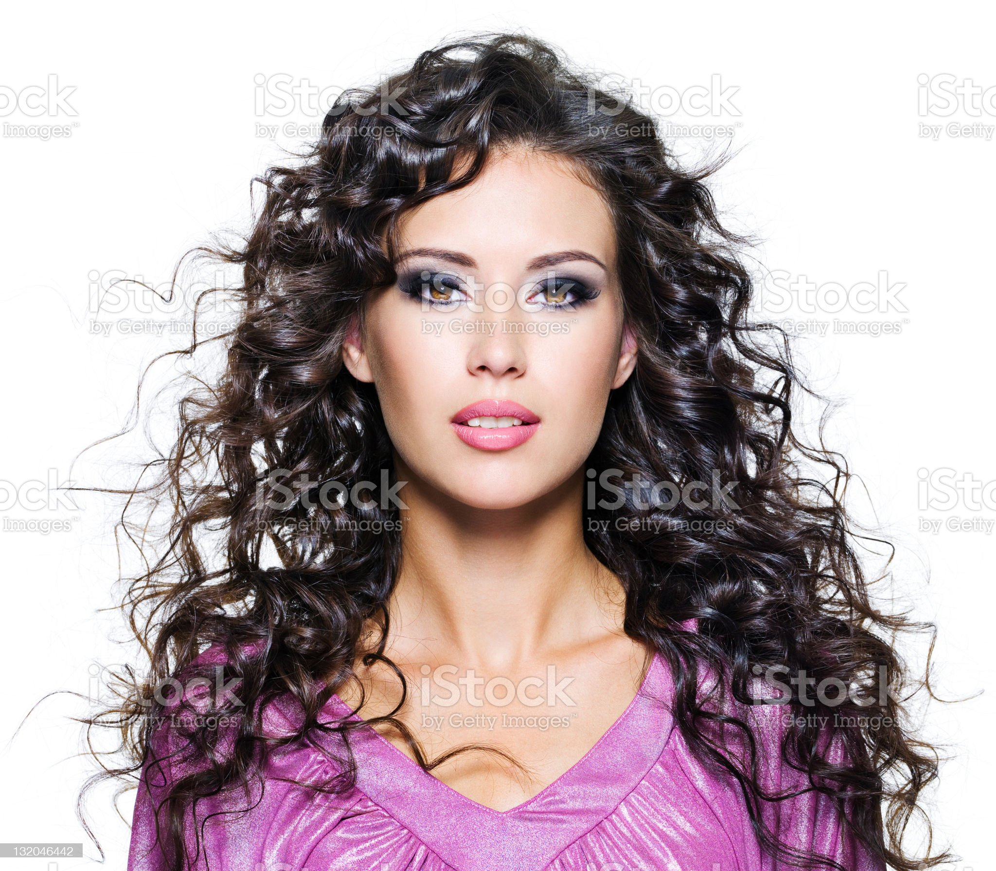The face of a beautiful brunette woman royalty-free stock photo