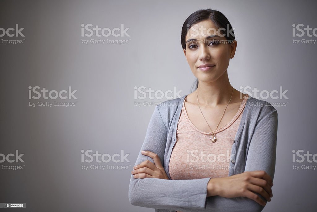 The face of an up and coming businesswoman stock photo