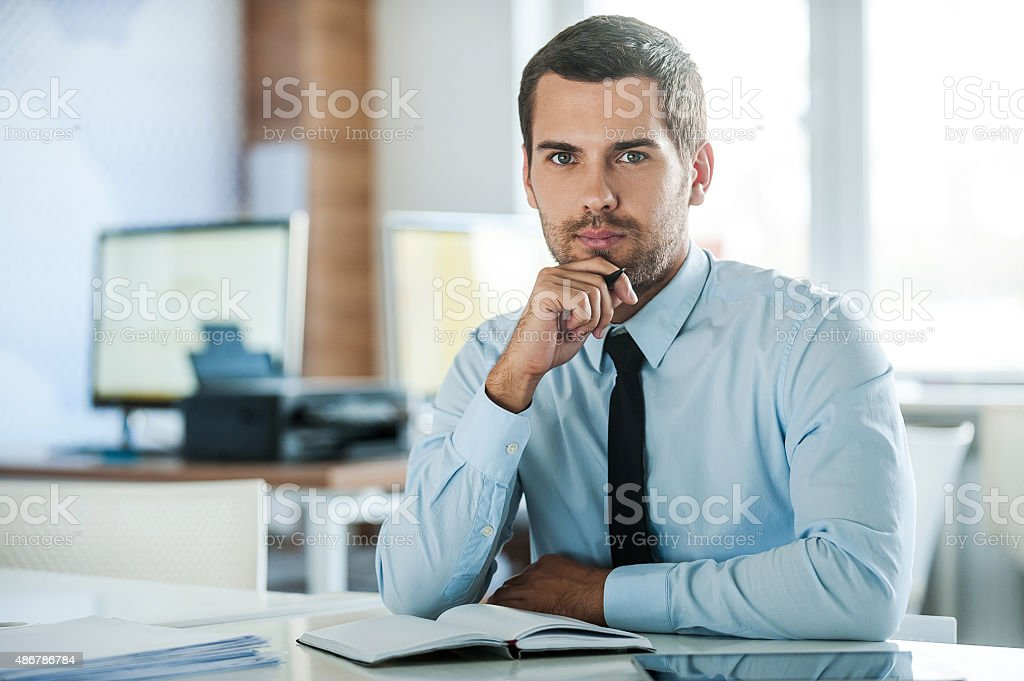 The face of plenary leadership. stock photo
