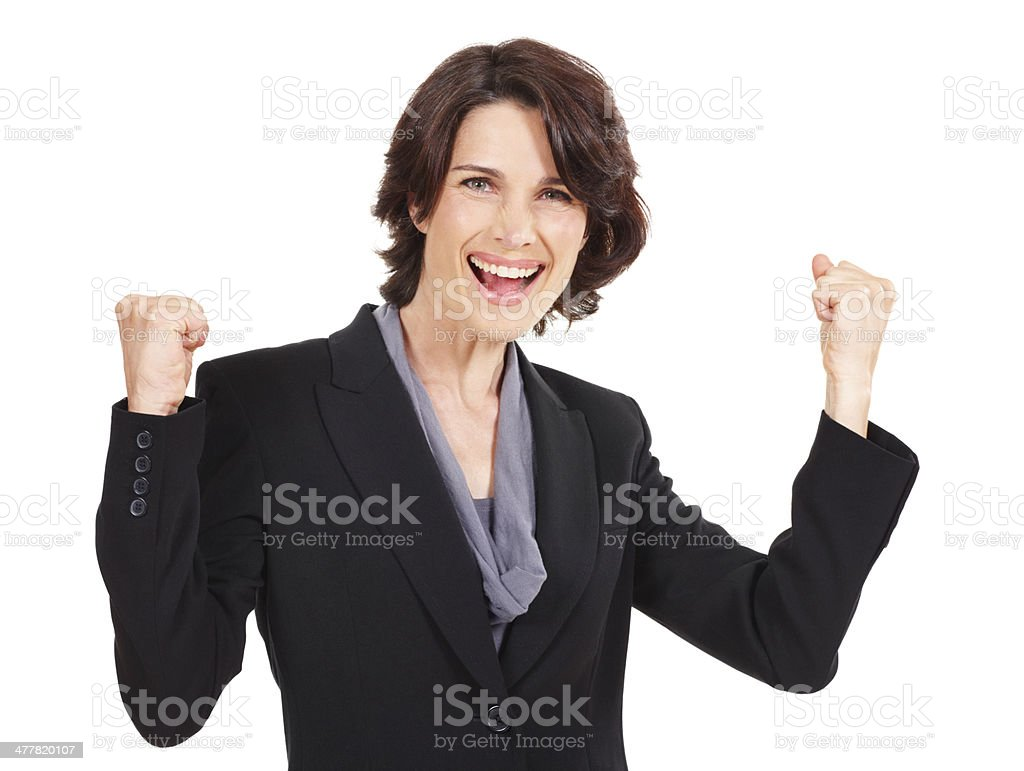 The face of success royalty-free stock photo