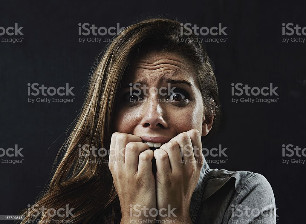 The face of terror! stock photo