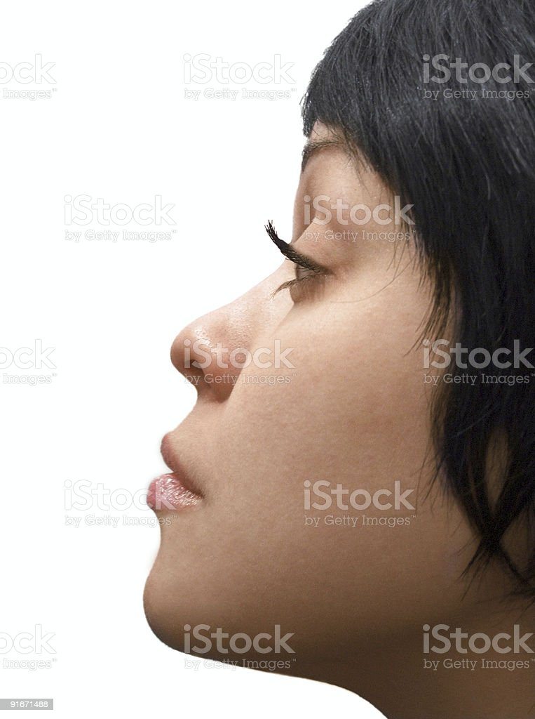 The face of the girl royalty-free stock photo
