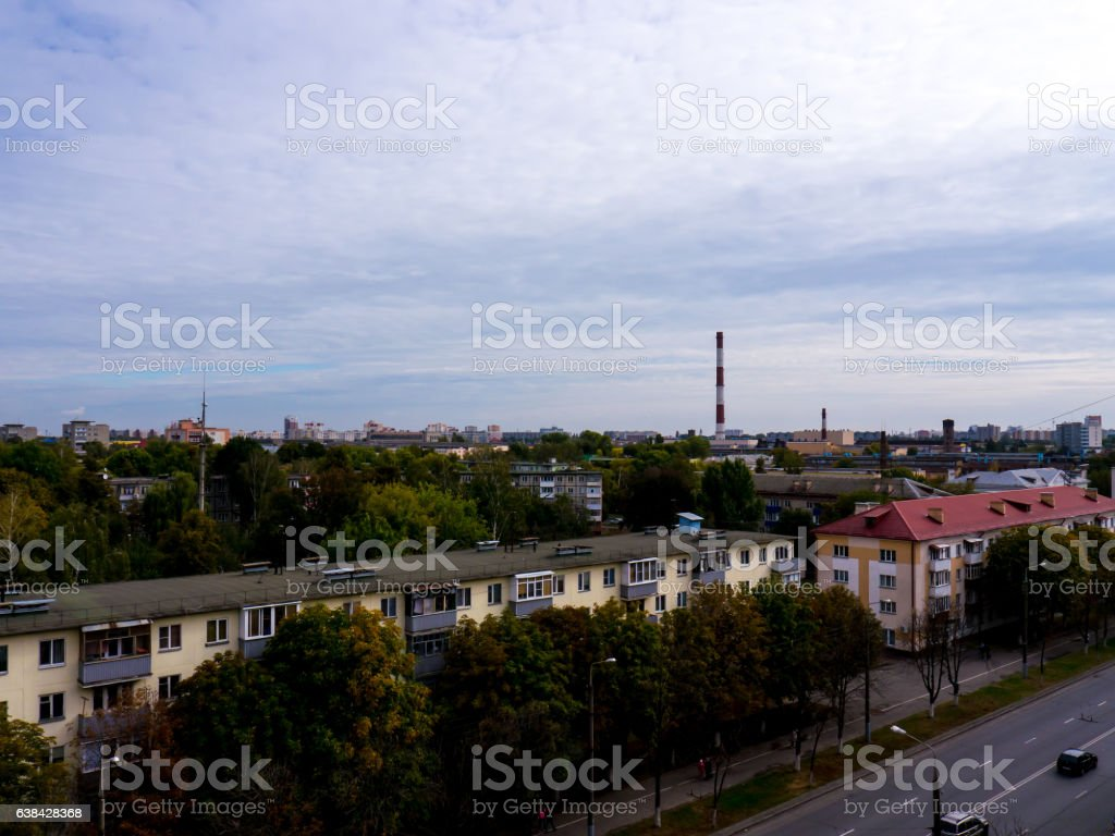 The Factory chimneys. stock photo
