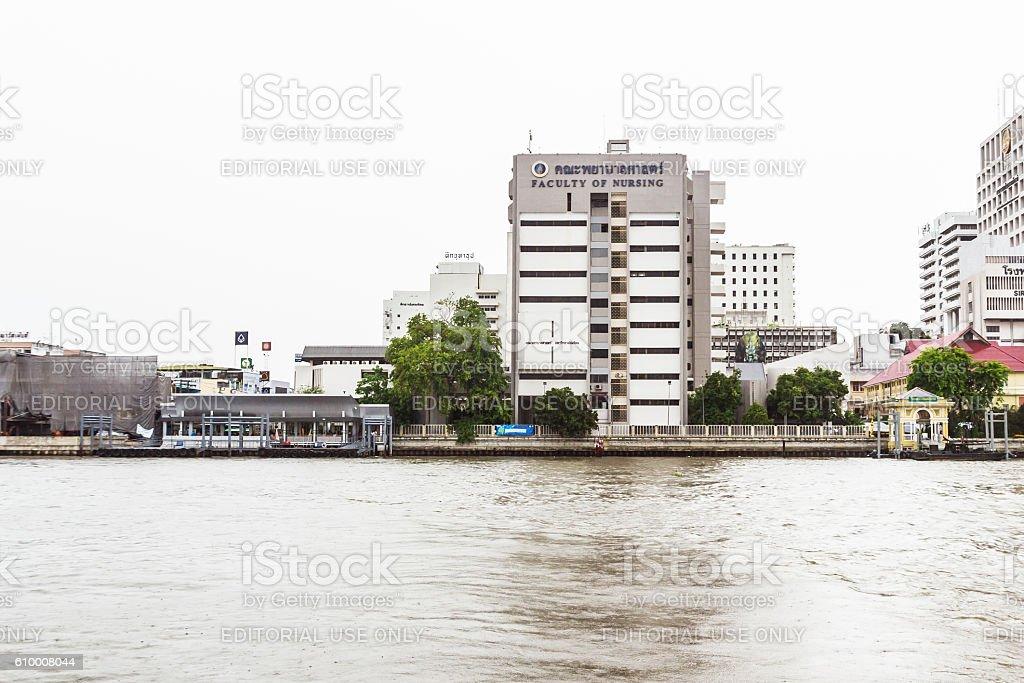 The faculty of Nursing, Mahidol university, Thailand stock photo