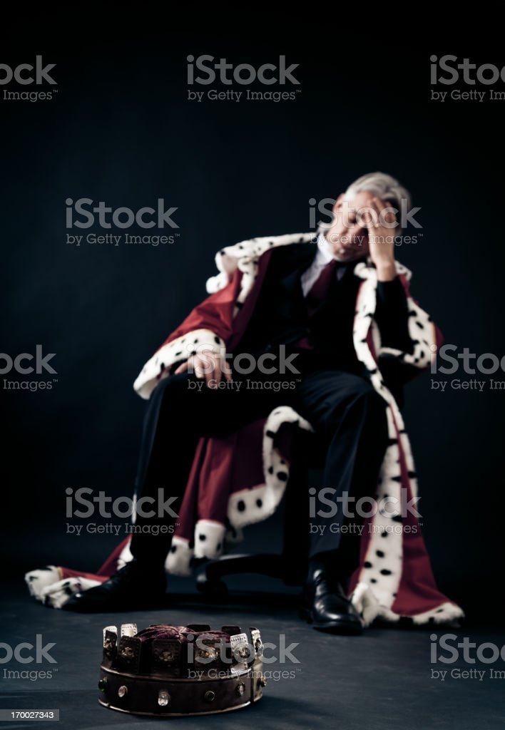 the failed business king stock photo