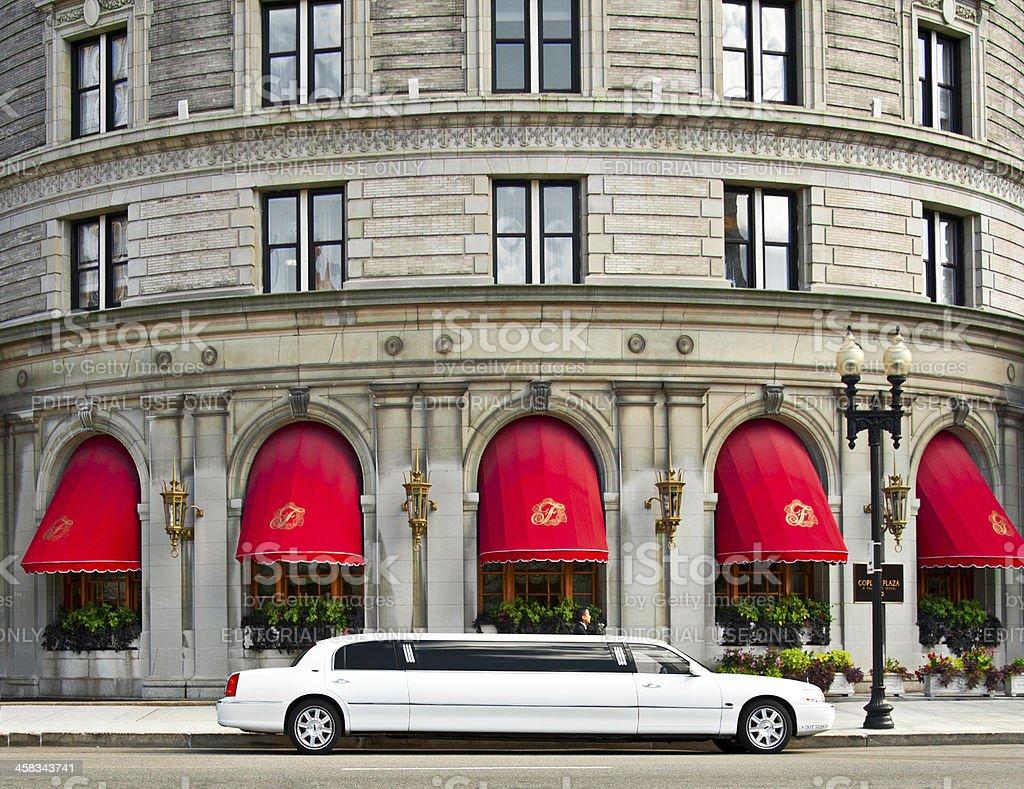The Fairmont Copley Plaza Hotel in Boston stock photo