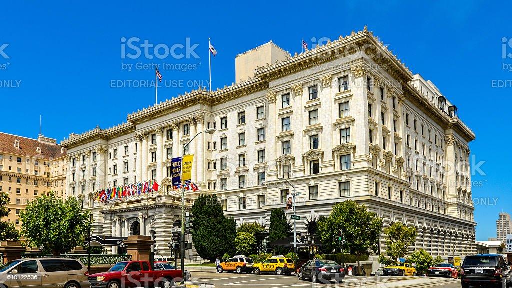 The Fairmont Hotel - San Francisco, CA stock photo