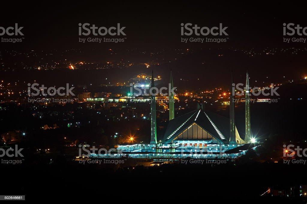 The Faisal Mosque stock photo