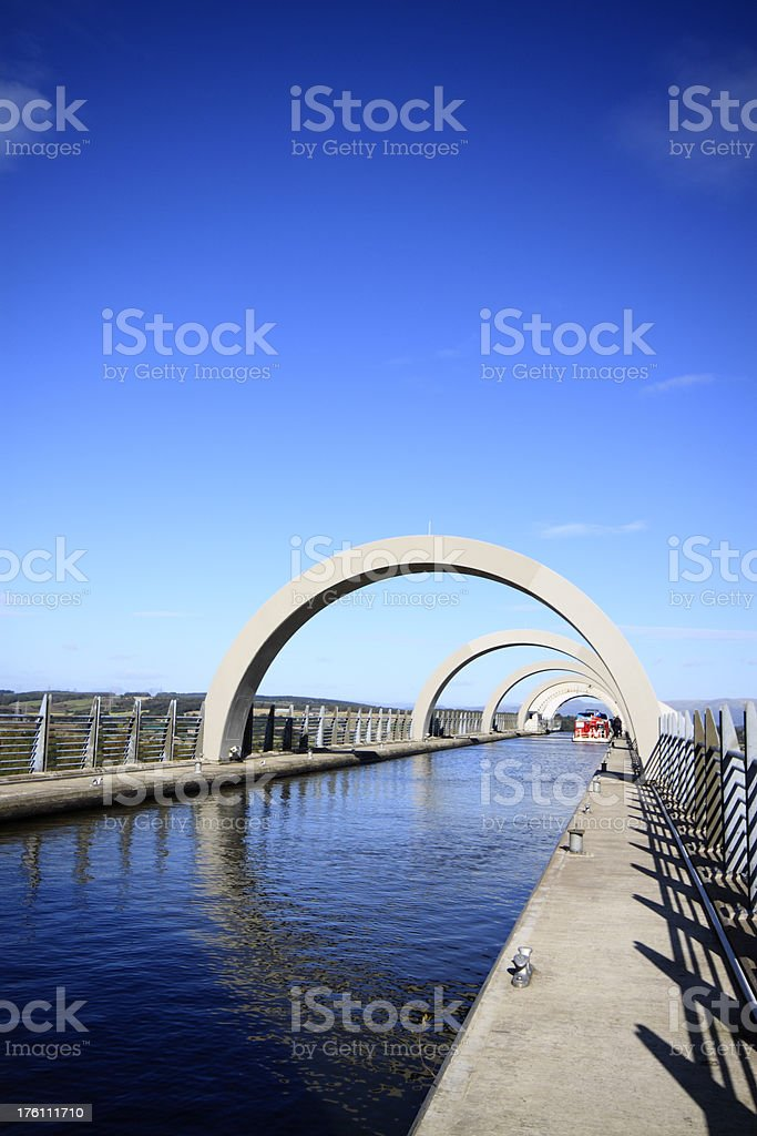 The Falkirk Wheel Vertical. stock photo
