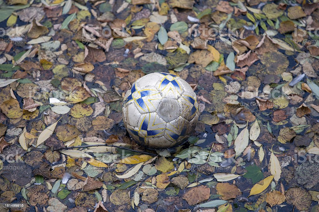 The fall of football royalty-free stock photo