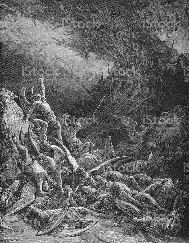 The Fall of Rebel Angels royalty-free stock photo