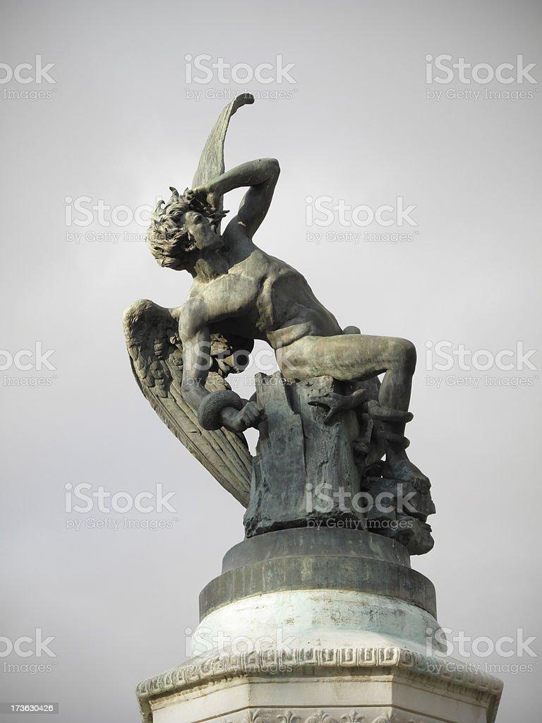 The fallen angel stock photo