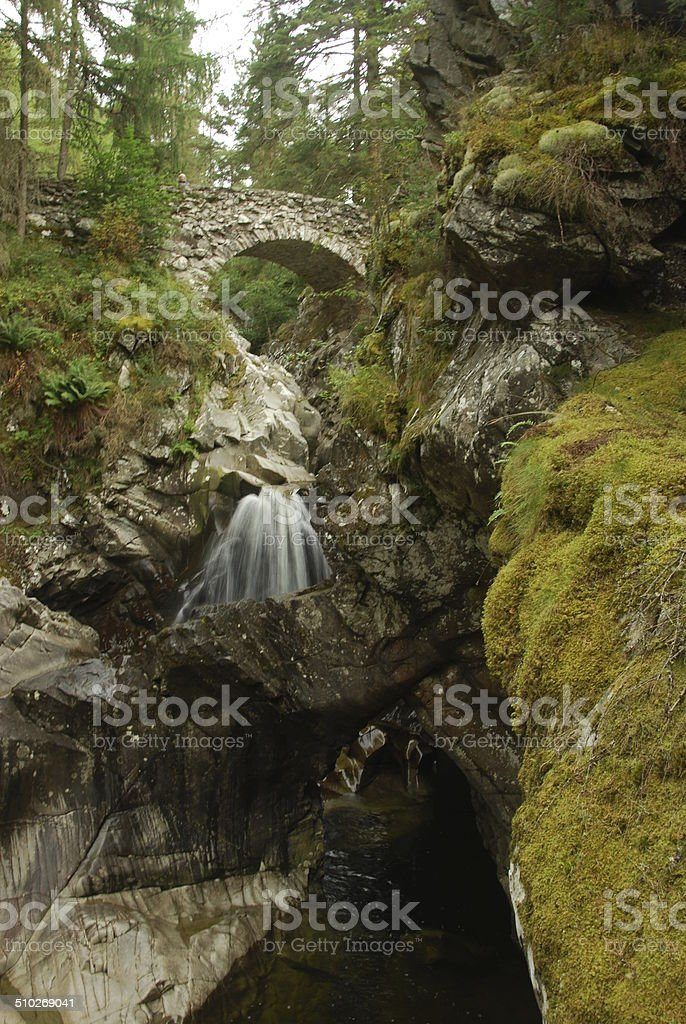 The Falls of Bruar stock photo