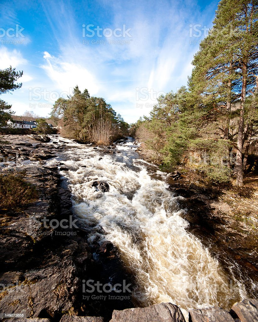 The Falls of Dochart, Killin, Scotland stock photo