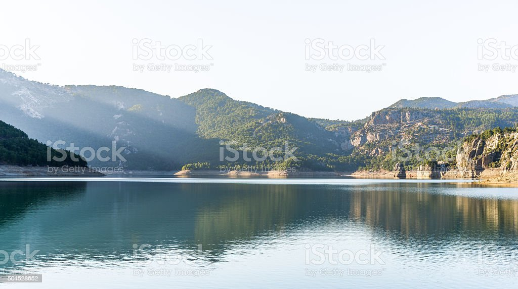 The famed oymapınar Lake in türkey. stock photo