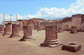 The famous ancient city of Pompeii, near Naples in Italy.