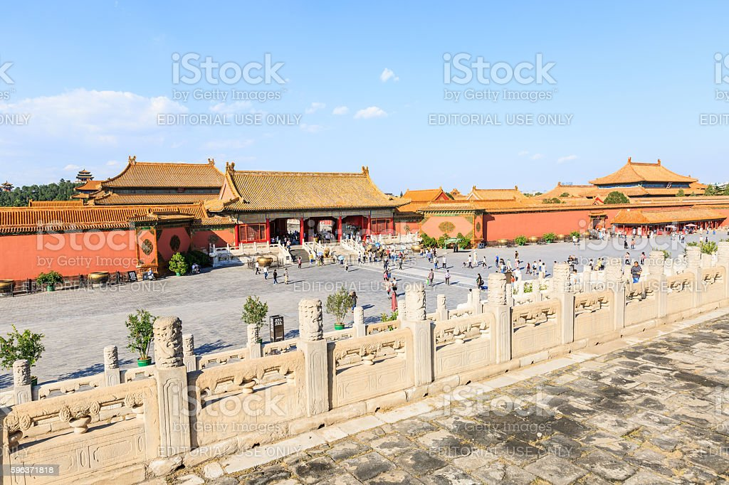 The famous ancient Forbidden City building,in Beijing,China stock photo