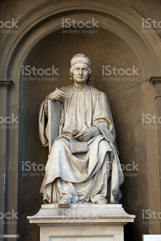the famous architect Arnolfo di Cambio- Florence stock photo