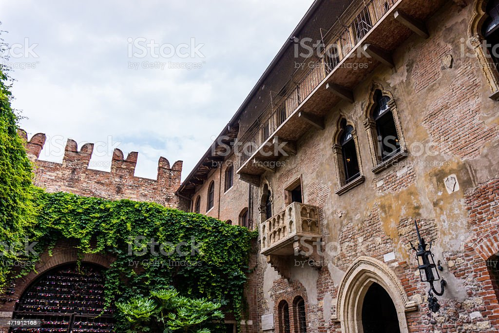 The famous balcony of Romeo and Juliet in Verona, Italy stock photo