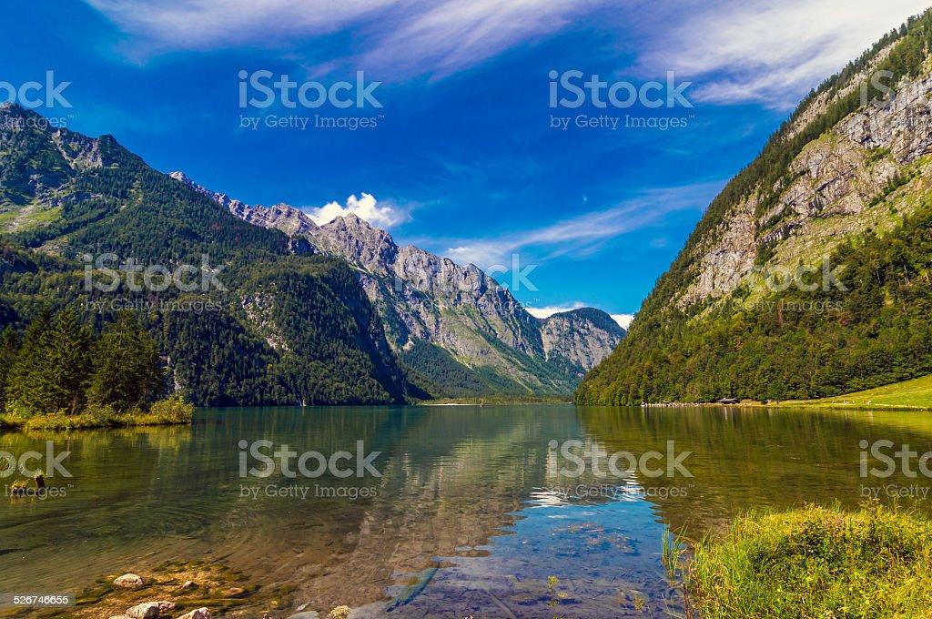 The famous Bavarian Königssee stock photo