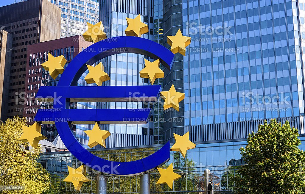 The Famous Big Euro Sign royalty-free stock photo