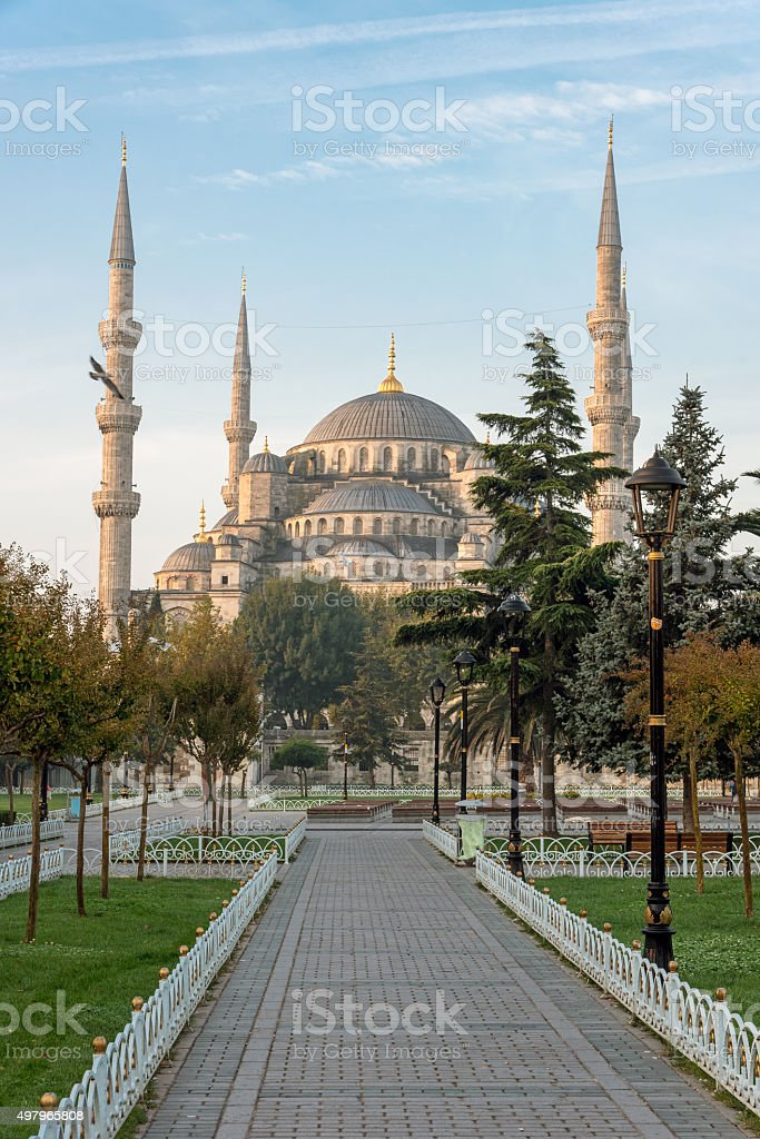 The famous Blue Mosque in Istanbul stock photo