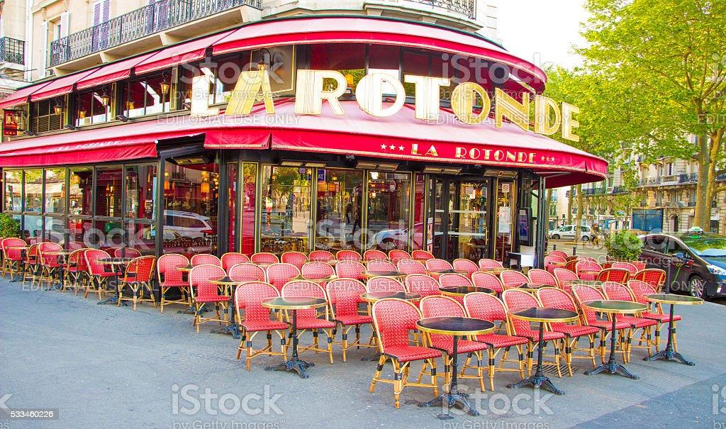 The famous cafe la Rotonde, Paris, France. stock photo