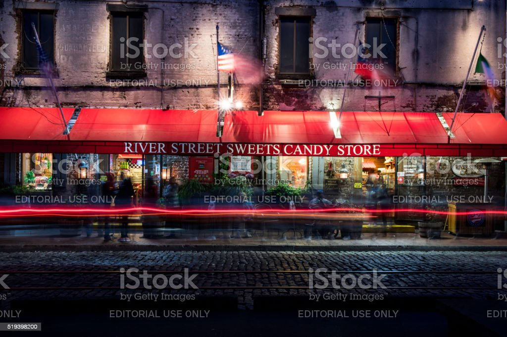 The famous candy store stock photo