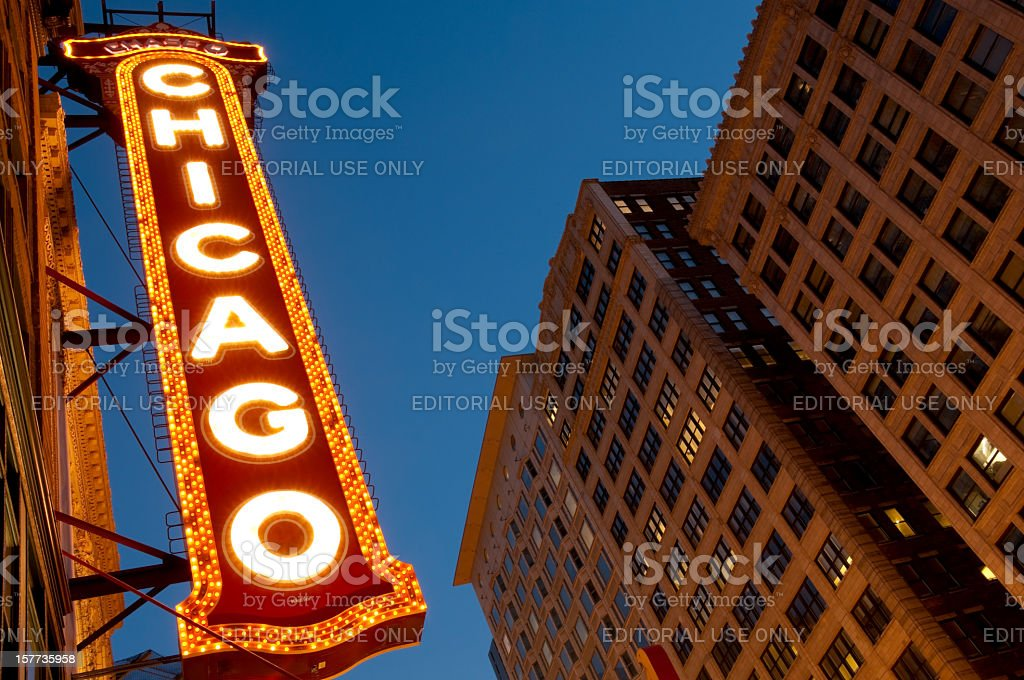 The Famous Chicago Theater royalty-free stock photo