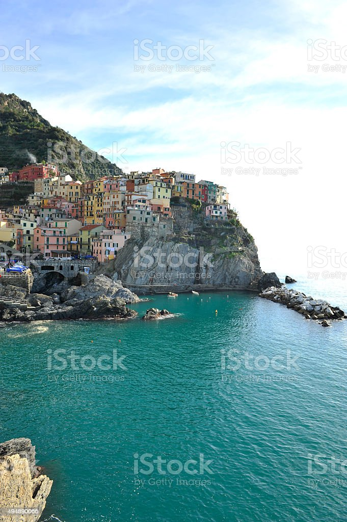 The famous Cinque Terre stock photo