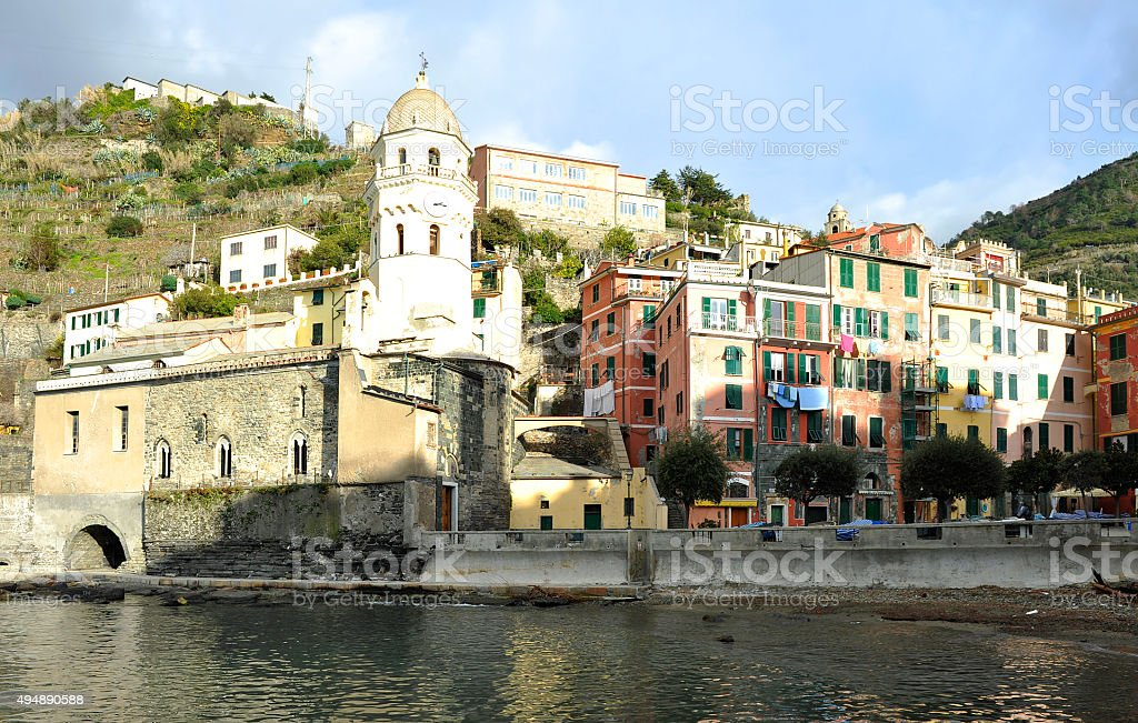 The famous Cinque Terre stock photo