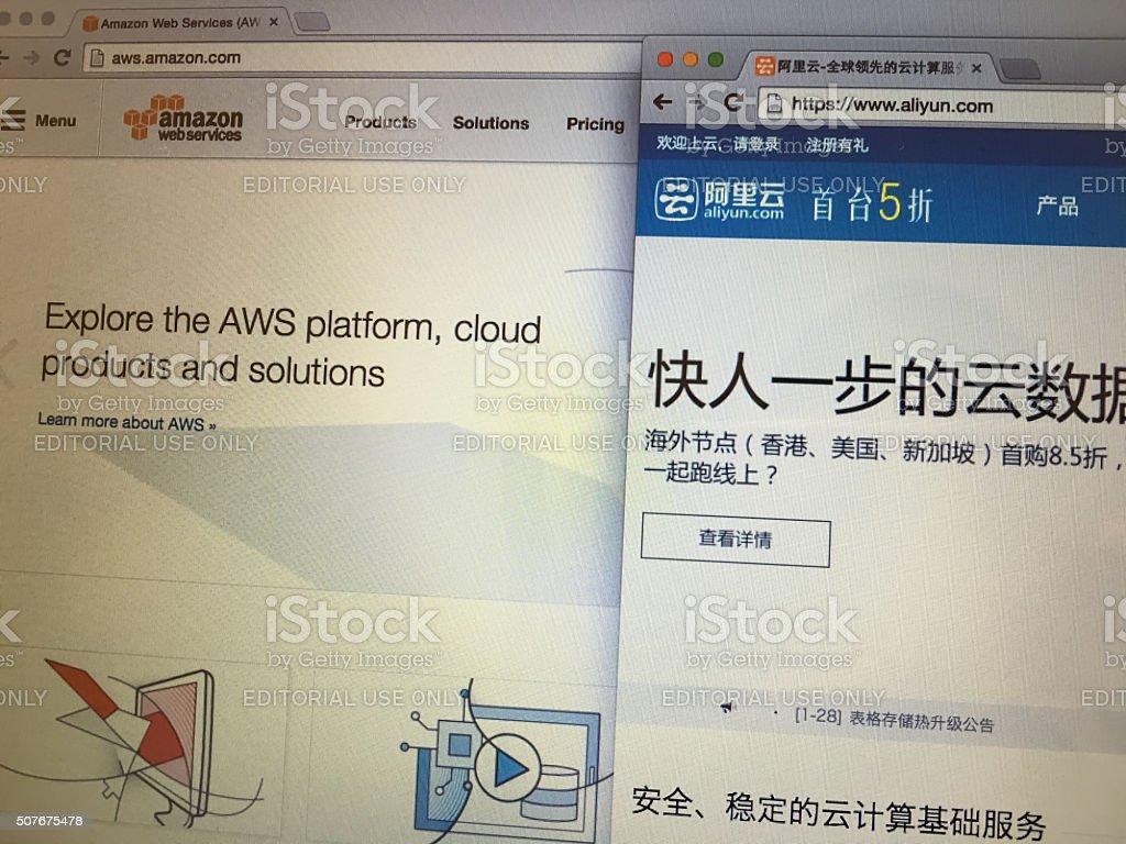 The famous cloud computing platform websites stock photo