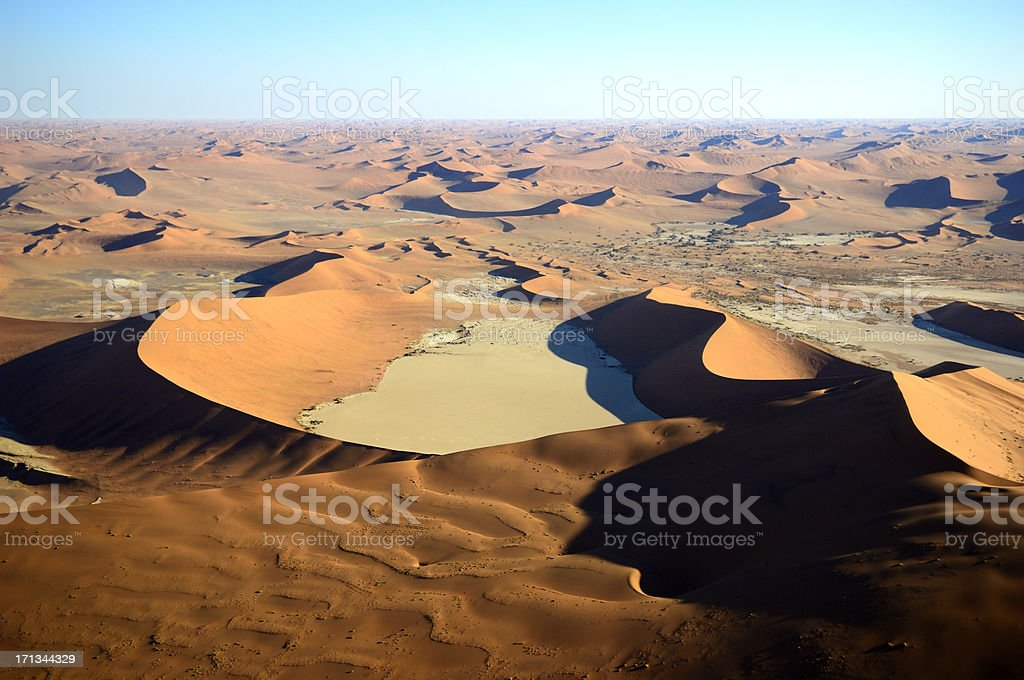 The famous Dead Vlei from backside stock photo