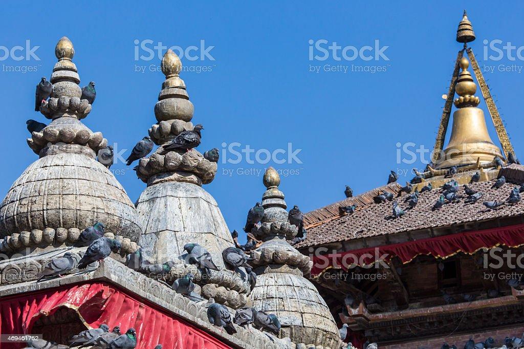 The famous Durbar square in Kathmandu, Nepal. stock photo