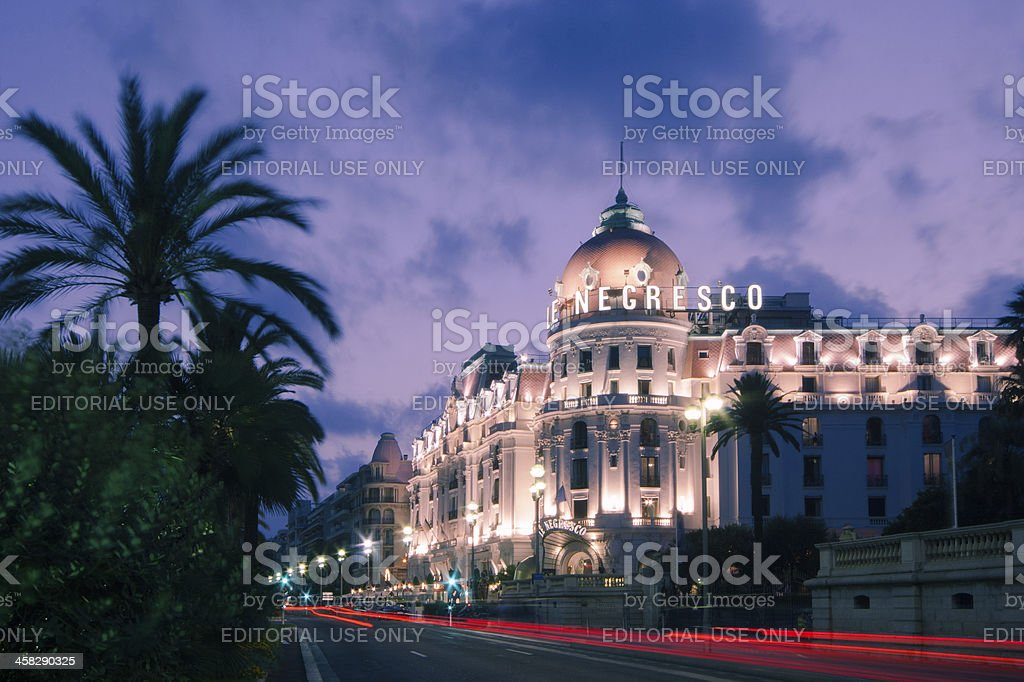 The famous El Negresco Hotel in Nice, France stock photo